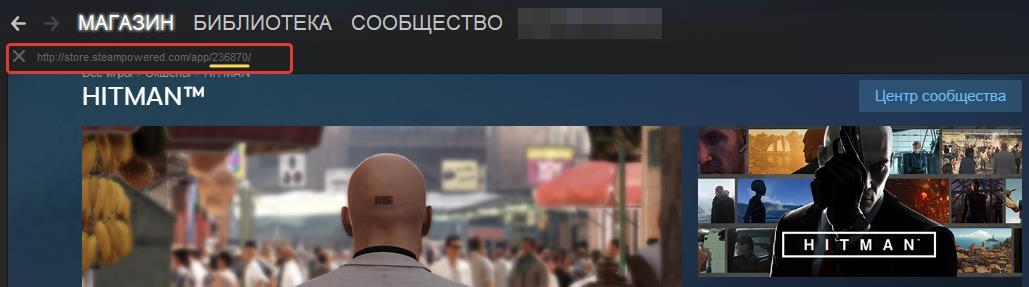 Как узнать AppID через адресную строку Steam?